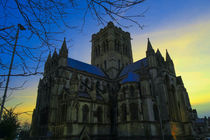 Cathedral of St John The Baptist at Dusk, Norwich, U.K by Vincent J. Newman