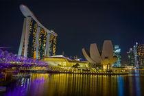 Marina Bay Sands bei Nacht, Singapur by globusbummler