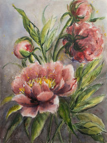 Blumenmalerei - Pfingstrose by Chris Berger