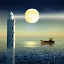 Der märchenhafte Leuchtturm - The fairy lighthouse von Monika Juengling
