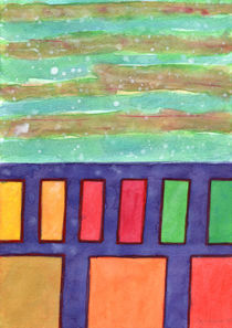 Building with colorful Windows by Heidi  Capitaine