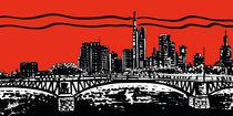 Frankfurt night red by Fabio Marchese