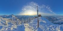 Breitenberg Icy Winter Sunset Panorama by Thomas Worbs by mountainpanoramas