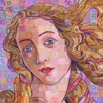 Variations On Botticelli's Venus – No. 4 (Iridescence) von Randal Huiskens