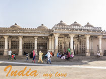 India my love; people in the mosque 1 von anando arnold
