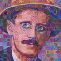 Portrait Of James Joyce by Randal Huiskens