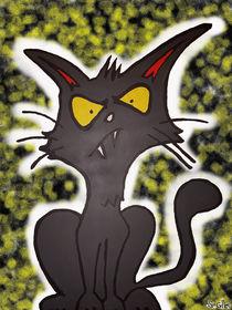 Schwarz-Gelb Getupfte Art Katze von Stefan Gilles
