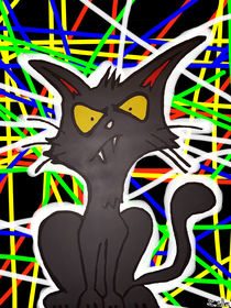 Laser Gitter Art Katze by Stefan Gilles