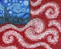American Flag No. 2 (Starry American Night) by Randal Huiskens