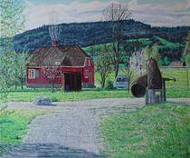 Häuschen eingebettet in eine idylische Landschaft by Hammer Patrick