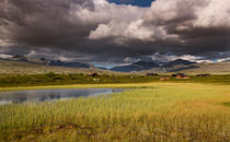 Rondane national park with mountains and swamp by Bastian Linder