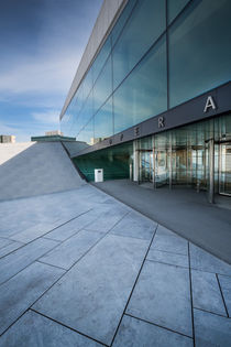 Entrance of Oslo opera house by Bastian Linder