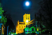 Full Moon Above Cathedral of St John The Baptist, Norwich, U.K by Vincent J. Newman