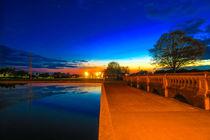 Eaton Park Lake at Sunset, Norwich, U.K by Vincent J. Newman