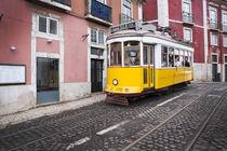 Tram in Lisbon at Alfama von Bastian Linder
