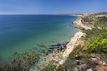 Coast with blue ocean of Algarve in Portugal by Bastian Linder