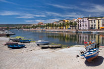 Colourful houses of Bosa with river in Sardinia by Bastian Linder