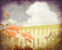 Butterfly Rose Garden by Karen Black