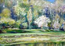 Frühling an der Elbe von Renée König