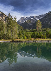 Lake Plansee in Austria with panorama of the Alps by Bastian Linder