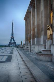 Eiffel Tower in rain at Trocadero, Paris by Bastian Linder