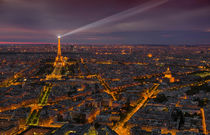Skyline of Paris from above in sunset by Bastian Linder