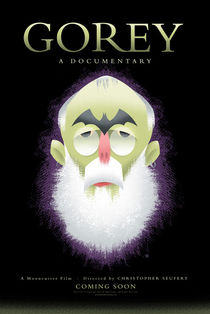 Edward Gorey Documentary Coming Soon Poster by Christopher Seufert