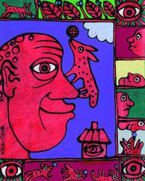 Menneske og dyr by Fine Art Nielsen