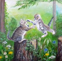 spielende Katzenkinder von Elisabeth Maier
