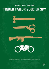 No787 My Tinker Tailor Soldier Spy minimal movie poster von chungkong