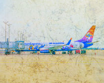 SunExpress Boeing 737-800. The smurfs..... the lost village by Michael Naegele