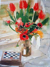 Tulpen und Anemonen  by rita-markgraefe