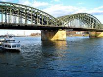 Köln, Hohenzollernbrücke mit Rhein by assy