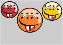 Three faces graffiti  by Jutta Ehrlich