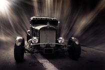 Hot Rod, black and white von hottehue