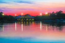 Sunset at Whitlingham Lake, Norwich, U.K  von Vincent J. Newman