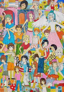 Kinder mit Fee by Viola Joisten