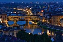 Florenz- Ponte Vecchio von Peter Bergmann