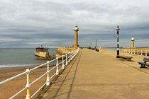 The West Pier and Breakwater, Whitby by Rod Johnson