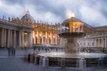 Petersplatz in Rom am Abend by blende007
