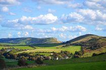 Hügellandschaft by Ute Bauduin