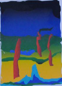 Abstraktion gelb grün mit Söhnen von art-dellas