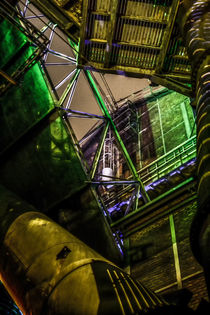 Industrial Monument By Night by Petra Dreiling-Schewe