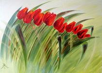 """""""Tulpen im Wind"""" von Hans Hackinger"""