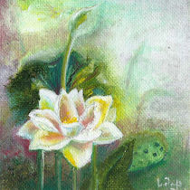 Water Lilies. Original Painting. Beautiful Wild Flower by mikart