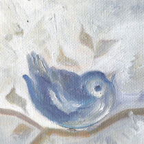 A Little Sparrow. Cute Bird In Cold Winter by mikart