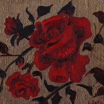 Red Roses. Decorative Floral Art by mikart