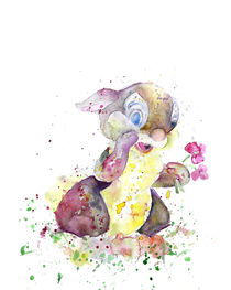 Thumper With Flowers von mikart