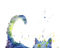 Colorful Cat by mikart