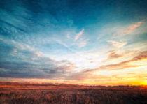 Dusk over the field by sonnengott